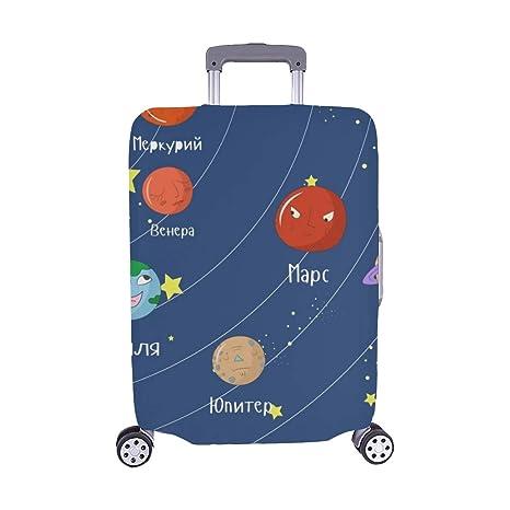 Juego Educativo para niños Sistema Ruso Sistema Solar Spandex Maleta con Ruedas Maleta Protectora para Viaje