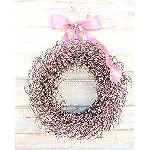 Pink Wreath, Spring Wreath, Valentines Day Wreath,Easter Wreath,Pink Wreath, Rustic Farmhouse Wreath, Valentines Wreath, Wreaths , Baby Shower Wreath, Baby Nursery Decor, Its a Girl, Pink Girl Decor 79