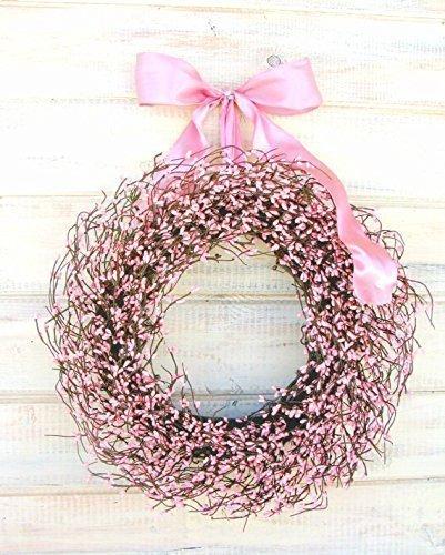Pink Wreath, Spring Wreath, Valentines Day Wreath,Easter Wreath,Pink Wreath, Rustic Farmhouse Wreath, Valentines Wreath, Wreaths , Baby Shower Wreath, Baby Nursery Decor, Its a Girl, Pink Girl Decor