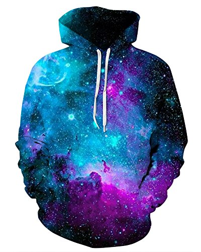 GLUDEAR Men's Novelty 3D Print Pullover Hoodie Hooded Sweatshirt