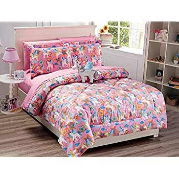 Amazon Com Linen Plus Full Size 8pc Comforter Set For