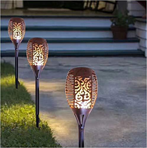 Fiamma luce impermeabile a risparmio energetico lampada solare led prato luce esterna del giardino