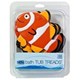 Ginsey 08616 6 Clown Fish Appliques Bath Tub Treads