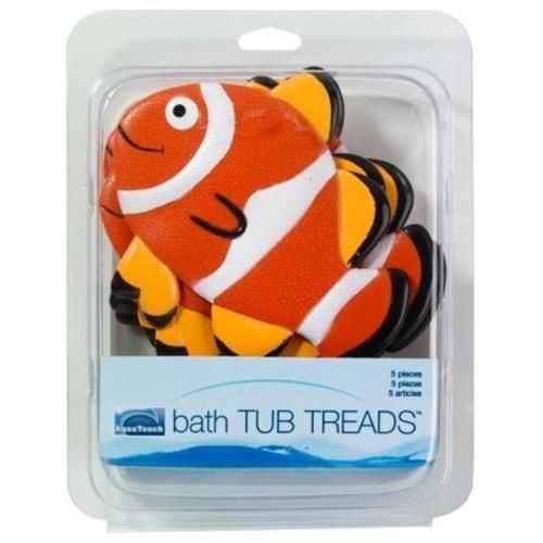 Ginsey 08616 6 Clown Fish Appliques Bath Tub Treads