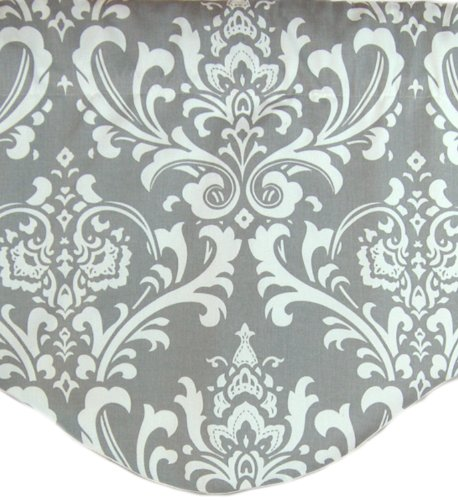 RLF Home Royal Damask M Shaped Valance, Grey