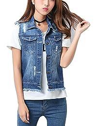 Eternal Women Winter Spring Cotton Sleeveless Jeans Denim Vest Jacket Outerwear Clothes