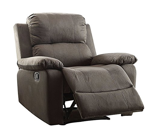Price comparison product image Major-Q Washed Microfiber Fully Reclining Memory Foam Recliner Chair for Living Room