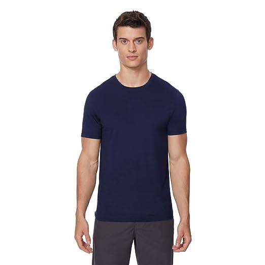 ec04e9a3 32 DEGREES Mens Cool Solid Crew Neck Tee Shirt
