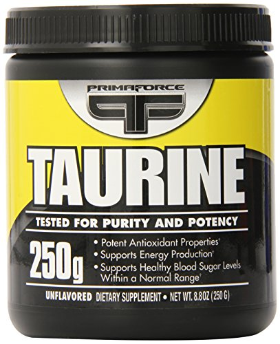 Primaforce, Taurine Powder, Unflavored, 250 Gram
