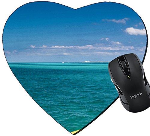 MSD Mousepad Heart Shaped Mouse Pads/Mat design 33919864 Yellow catamaran in caribbean sea Cancun Mexico