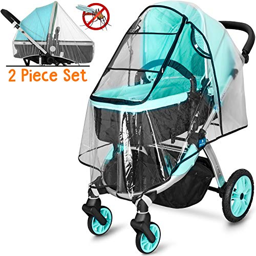 (Universal Waterproof All-Round Protection Baby Infant Stroller rain Cover with Mosquito Net Travel Weather Shield)