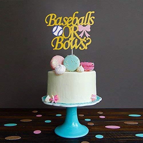 Baseball or Ballet Gender Reveal Cake Topper