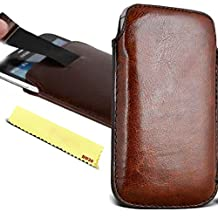 Cubot S308 Case Pouch - [ Brown ] Slip Cover Purse Sleeve Soft PU Leather Holster Pocket Mobile Phone Smartphone Bag