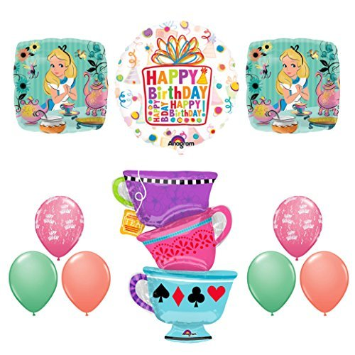 ALICE IN WONDERLAND Tea Party Birthday Balloons Decoration Supplies Tea -