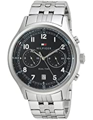 Tommy Hilfiger Mens SPORT Quartz Stainless Steel Casual Watch, Color:Silver-Toned (Model: 1791389)