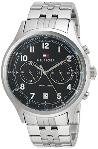 Tommy Hilfiger Men's 'SPORT' Quartz Stainless Steel Casual Watch, Color:Silver-Toned (Model: 1791389)