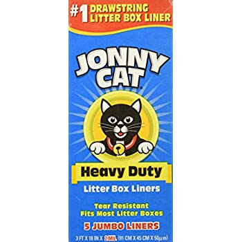 Amazon Com Jonny Cat Heavy Duty Litter Box Liners Jumbo
