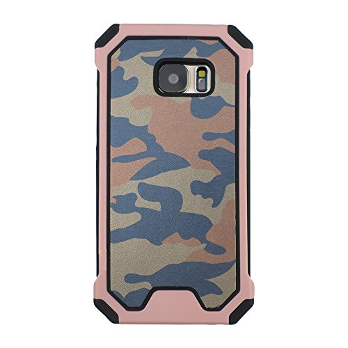 TCD for Samsung Galaxy S6 [ONLY] New Sleek Camouflage Defender Case [Peach] [Hard/Soft Combo] Thin Good Grip [Free Screen Protector Stylus]