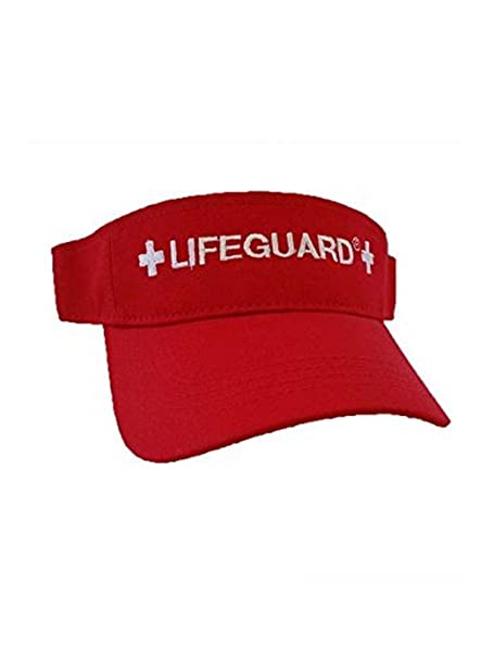 Amazon.com  LIFEGUARD Official Adjustable Visor (Red)  Clothing a18827df4d4