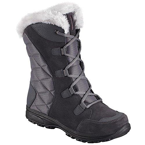 Columbia Women's Ice Maiden Ii Snow Boot, Shale, Dark Raspberry, 7.5 B (Columbia Leather Snow Boots)