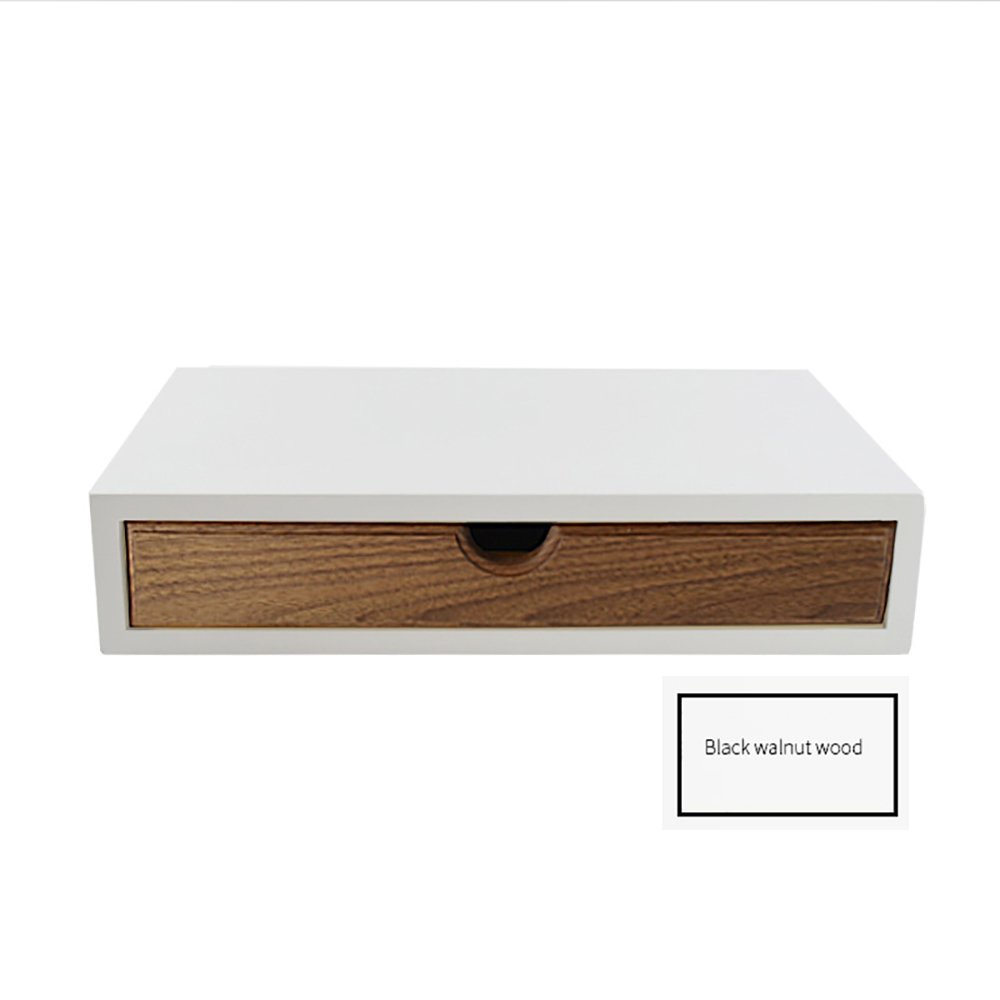 LongYu Organizer Holder Storage Drawers Decorative Wooden Drawers with Japanese style Design 1 Drawer (Color : Walnut)