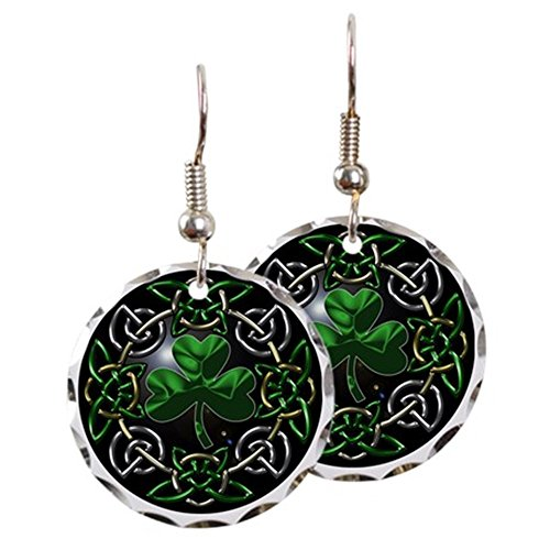- CafePress - St. Patrick's Day Celtic Knot - Charm Earrings with Round Pendant