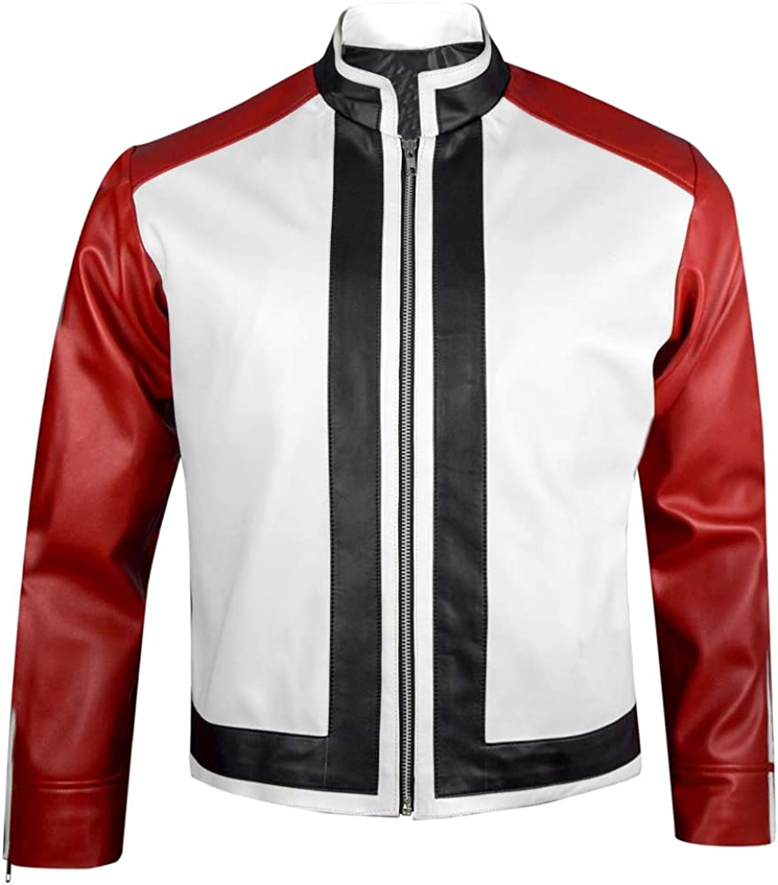 Amazon Com King Of Fighters 14 Game Rock Howard Red White Leather Jacket Xxs 3xl Clothing Level 5 rock howard vs k' the king of fighters xiv battle tutorial kof xiv. king of fighters 14 game rock howard red white leather jacket xxs 3xl
