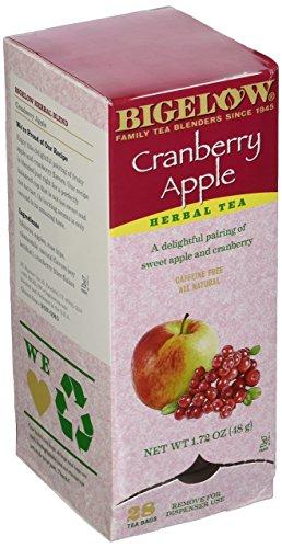 Bigelow 10400 Cranberry Apple Herbal Tea 28/Box
