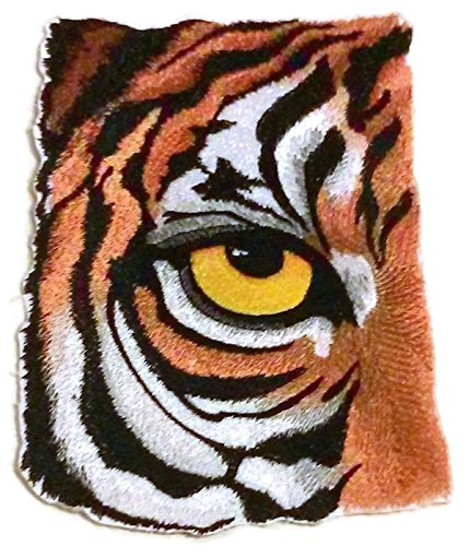 Custom and Unique Eye Of Tiger Embroidered Iron on/Sew patch [7