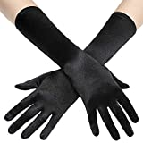 BABEYOND Long Opera Party 20s Satin Gloves Stretchy Adult Size Elbow Length 15 Inches