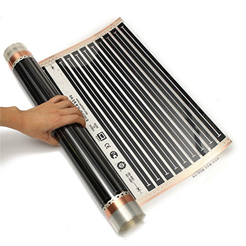 MXBAOHENG One Square Meter Floor Heating Film No Accessories AC220V Far Infrared Heating Film 50cm x 2m Tool Parts