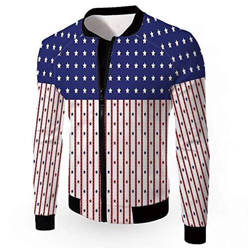 Windbreaker Jacket,USA,Men's Lightweight Zip-up Windproof Windbreaker Jacket,AME