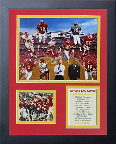 Legends Never Die Kansas City Chiefs Greats Framed Photo Collage, 11 by (Lacquered Painting Wall Art Plaques)