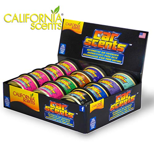 California Scents California Car Scents, Car Air Freshener & Fragrance, Long-Lasting Fresh Scents, 1.5 oz. Cans (12 Count)