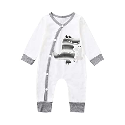 Qiusa Ropa unisex para bebés recién nacidos b30646419da