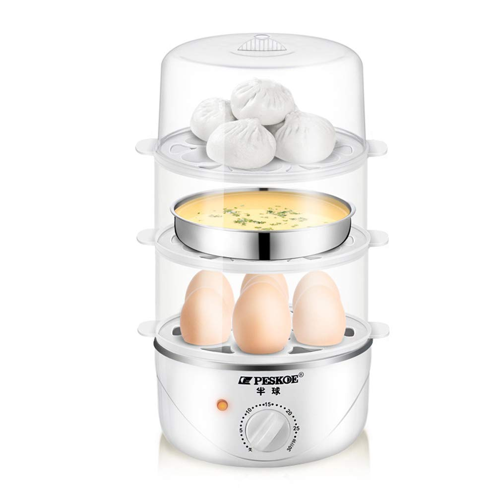 JSX Home Electric Egg Cooker 350W Egg Poacher Maker with Auto Shut Off- Up to 21 Eggs with Heat Preservation Function