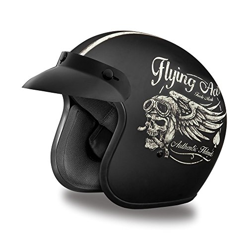 Daytona Helmets DOT 3/4 Cruiser Flying Aces (XL) (Dot Helmets Daytona)