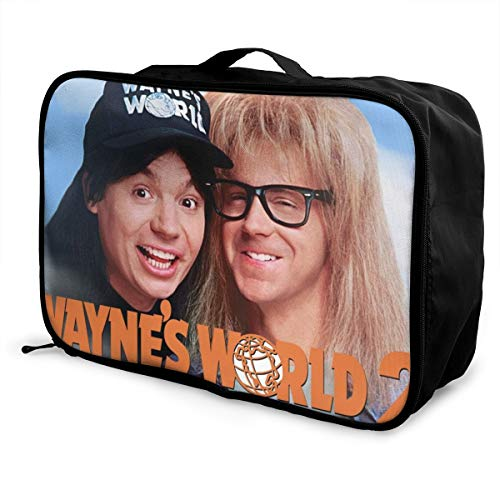 Høyer-Enevoldsen Wayne's World 2 Travel Duffel Bag For Weekend Bag Overnight Carry On Lightweight Large Capacity Portable Luggage Bag