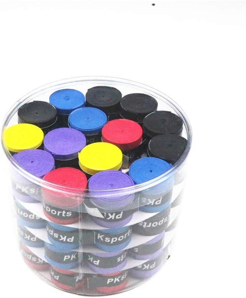 Aofocy Paquete de 10 Rollos de Cinta Antideslizante para Raqueta Deportiva (Color Aleatorio)