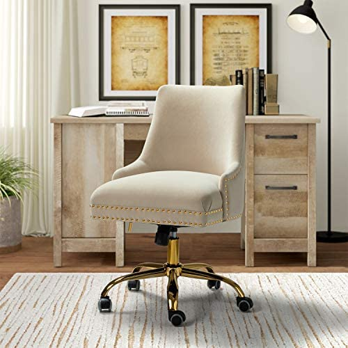 Office Chair Velvet Fabric Task Chair