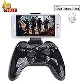 Apple MFi Certified Bluetooth Gamepad, Megadream Wireless Gaming Game Handheld Controller Joystick for Apple iPhone 7 6S 6 Plus 6 5S 5 4S, iPad Air 2, iPad Mini, iPad Pro, Apple TV, iPod Touch -Black