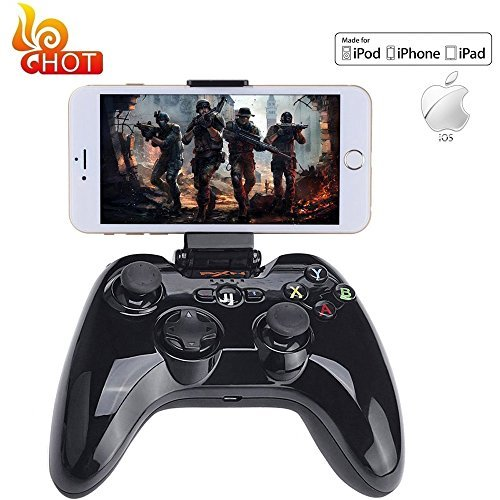 Apple MFi Certified Bluetooth Gamepad, Megadream Wireless Gaming Game Handheld Controller Joystick for Apple iPhone X 8 8Plus 7 7Plus 6S 6 5S 5 4S, iPad Air, iPad Mini, iPad Pro, Apple TV, iPod Touch