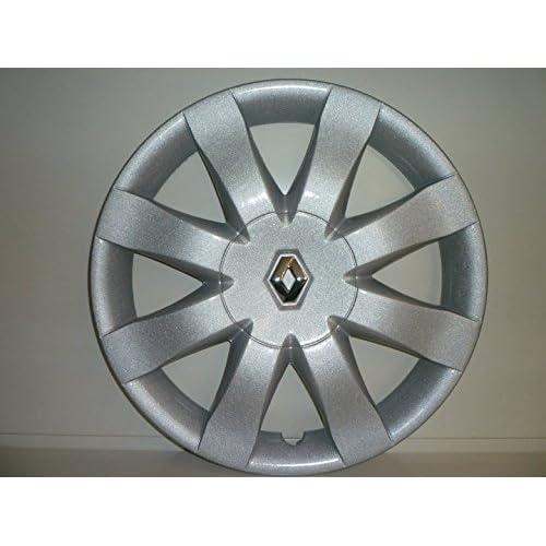 Lot de 4 Enjoliveurs Enjoliveur Boutons Clous de voiture Coupes Rivets Roue Renault New Clio r 15 (Sc 460L) Logo Chromé