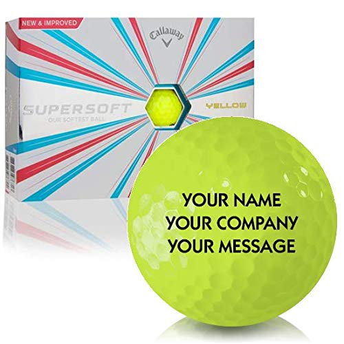Callaway Golf Prior Generation Supersoft Yellow Personalized Golf Balls ()