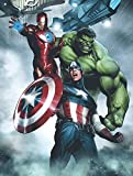 Edge Home Products Avengers Canvas with LED Lights, 12 by 16'', Grey