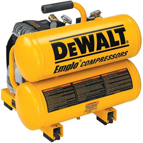 Factory-Reconditioned DEWALT D55151R 14 Amp 2-1/2 Horsepower 4-Gallon Oiled Twin Hot Dog Compressor