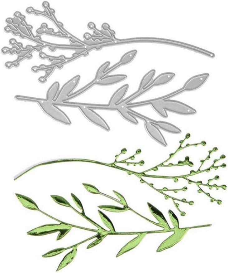 2020 New Die Cuts,dezirZJjx Branch Twig Metal Cutting Dies DIY Scrapbooking Paper Cards Photo Craft Decor Silver