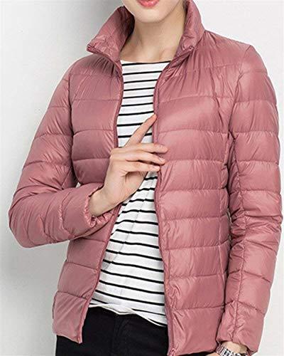 Casual Puro Manica Pink2 Outerwear Grazioso Di Donna Festa Giacca Piumino Ragazze Moda Invernali Autunno Con Slim Style Colore Lunga Fit Trapuntata Cerniera qwt1xOPx
