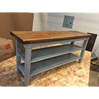 Hallway / Mud Room / Foyer Bench 46 Increased Width With Two Shoe Shelves