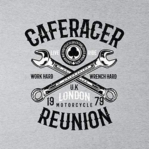 Grey Women's Racer Heather Reunion Motorcycle Cafe London Sweatshirt Coto7 8wXagg